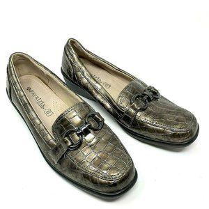 Patrizia Spring Step Silver/ Bronze Leather Loafer